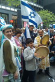 "Mazal Tov Jewish dancers at the ""Salute to Israel Parade"" in New York City on Sunday, June 5th, 2011"