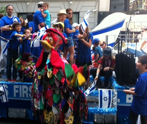 NYC Mazal Tov Jewish dancers Celebrate Israel Parade New York City Sunday June 1st 2014