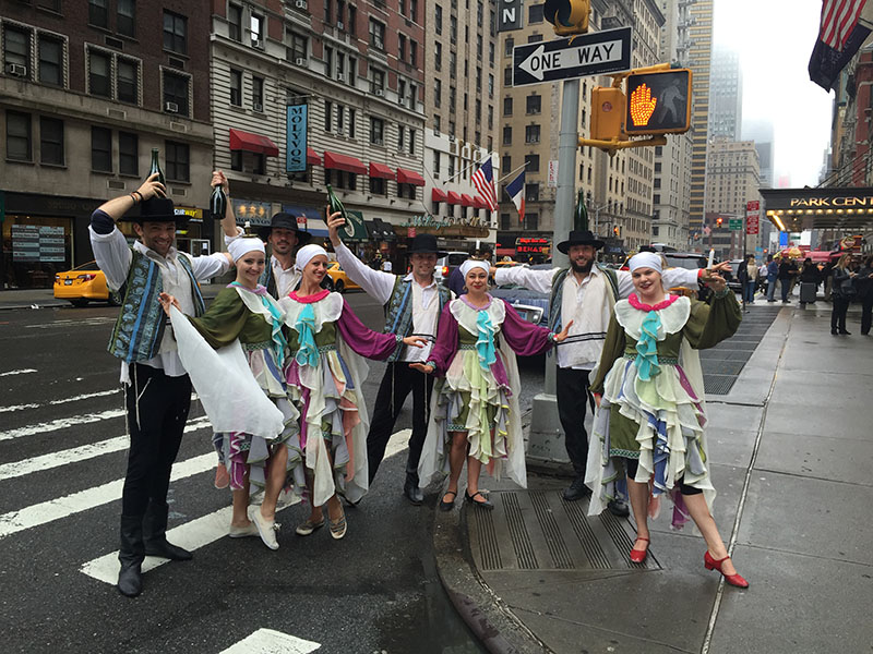 June 5th 2016, Mazal Tov Show, NYC Jewish Bottle Dancers, Celebrate Israel Parade NYC 2016
